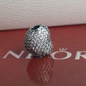 Original pandora crystal heart clip 💜💜💜